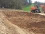 Bau des neuen Reitplatzes